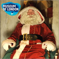 Father Christmas comes to Museum of London, Docklands