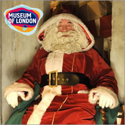 Father Christmas comes to Museum of London